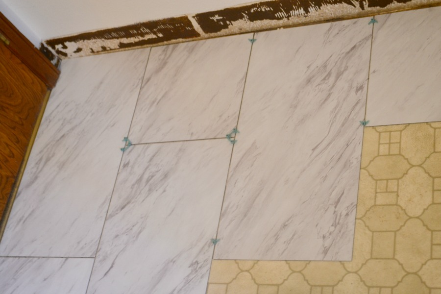 Use tile spacers if you want to apply grout for a more finished look