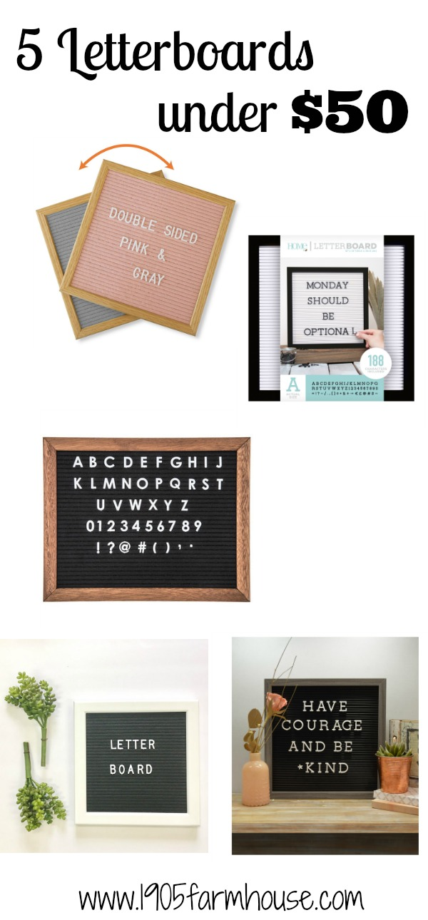 5 different letter boards that you can purchase all under $50 and such cute accessories #letterboard #giftguide
