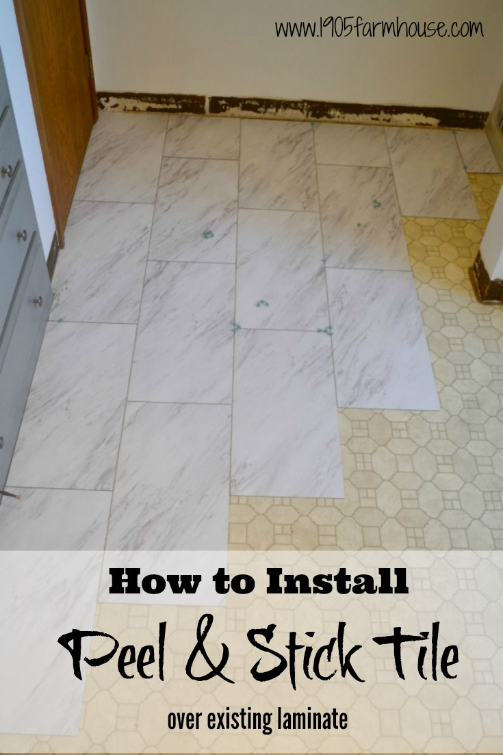 How to successfully install peel and stick vinyl tile over existing laminate