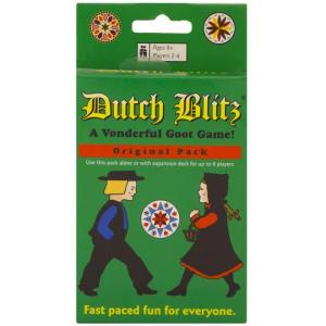 A green card box with a dutch boy and girl with the title Dutch Blitz