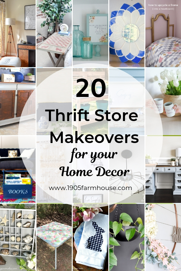 20 Thrift Store Makeovers For Home Decor