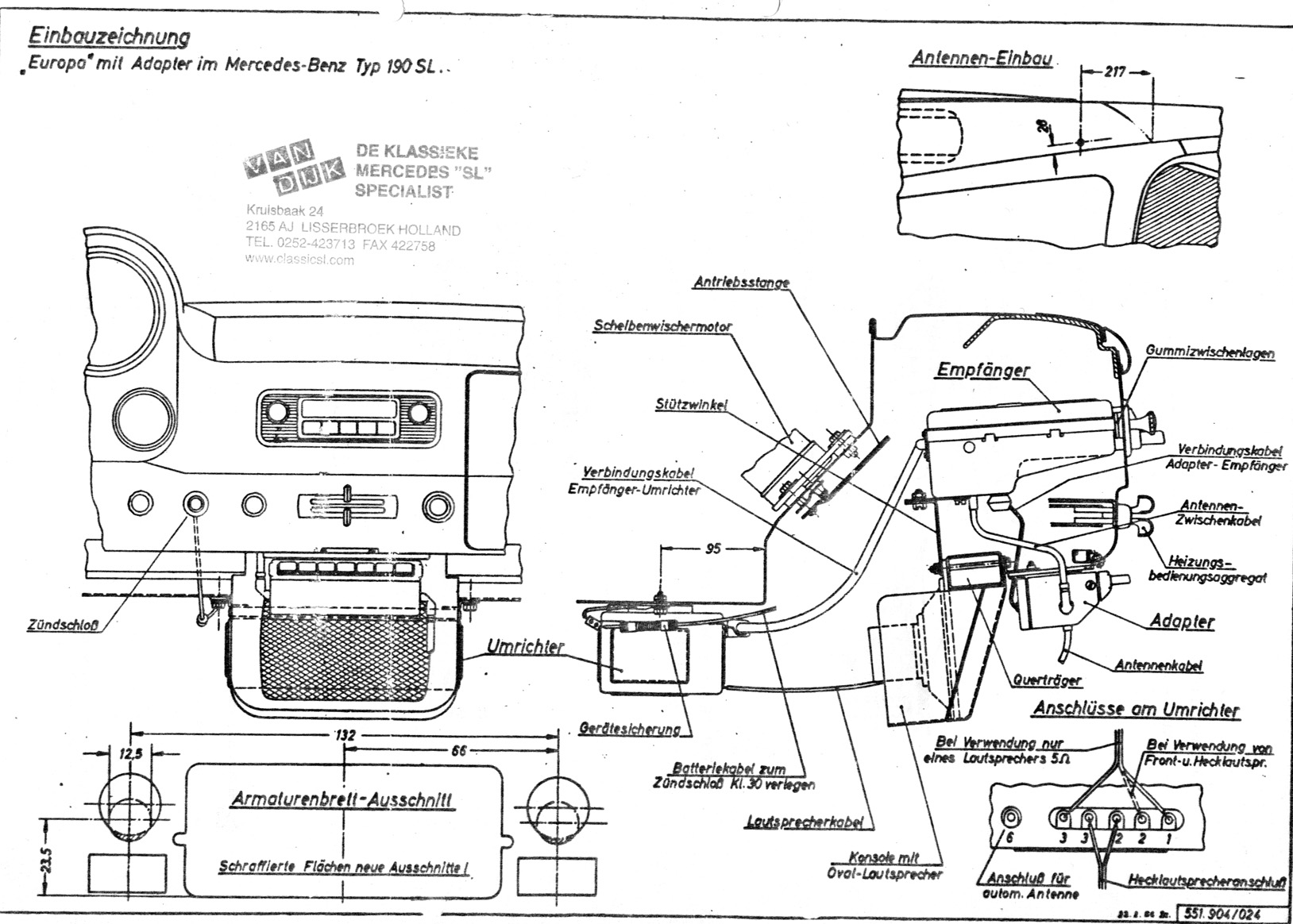 -Becker Europa Radio Technical Illustration ; Installation
