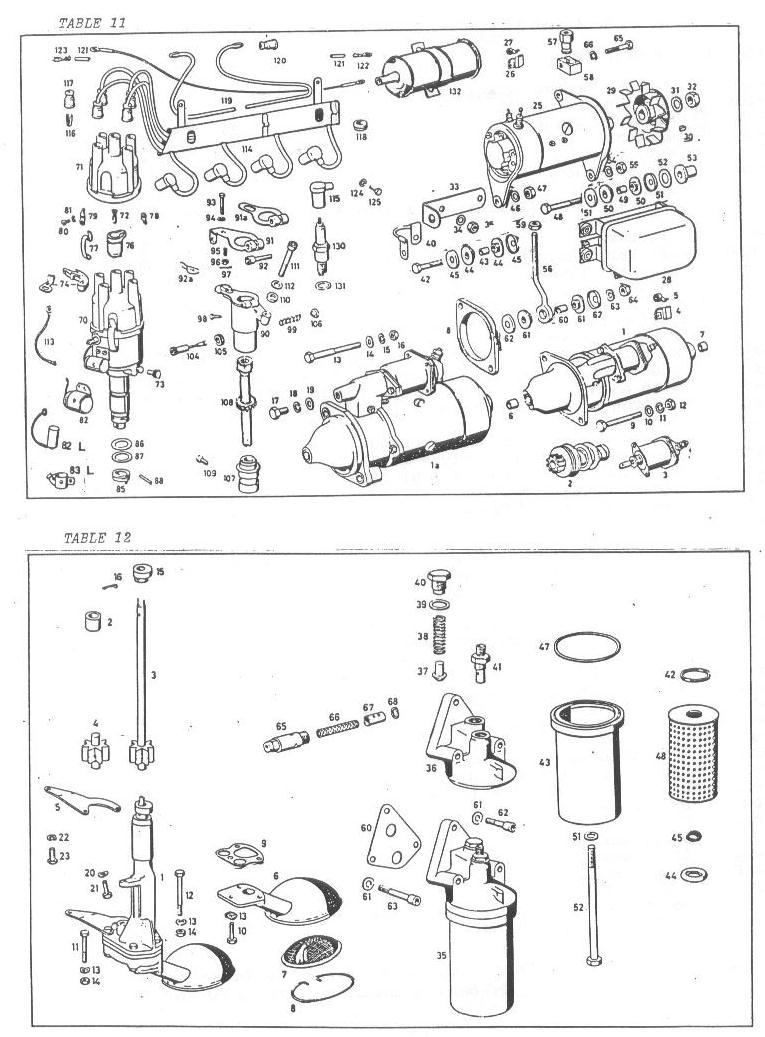 Mercedes 190SL Elec Eqpt @ Eng, Oil Pump & Filter Parts