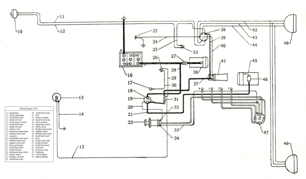 1929 Ford Engine Wiring Diagram