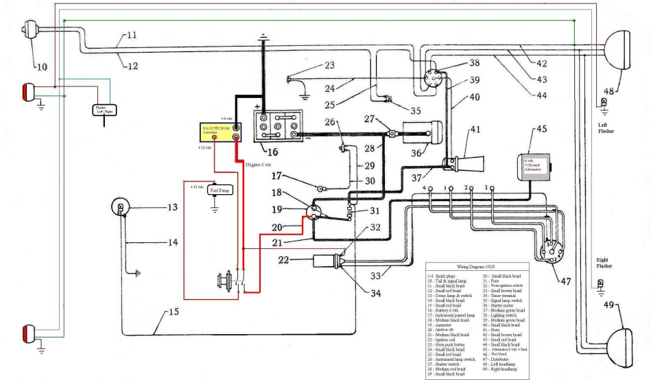 wiring diagram for 1948 plymouth