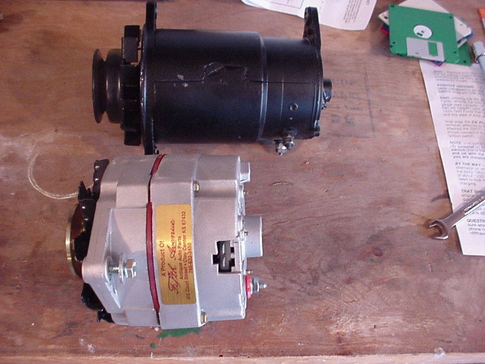 medium resolution of the old generator and alternator black generator and new 7 5 volt