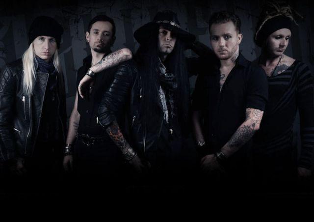 Devilfire band photo, dark and moody