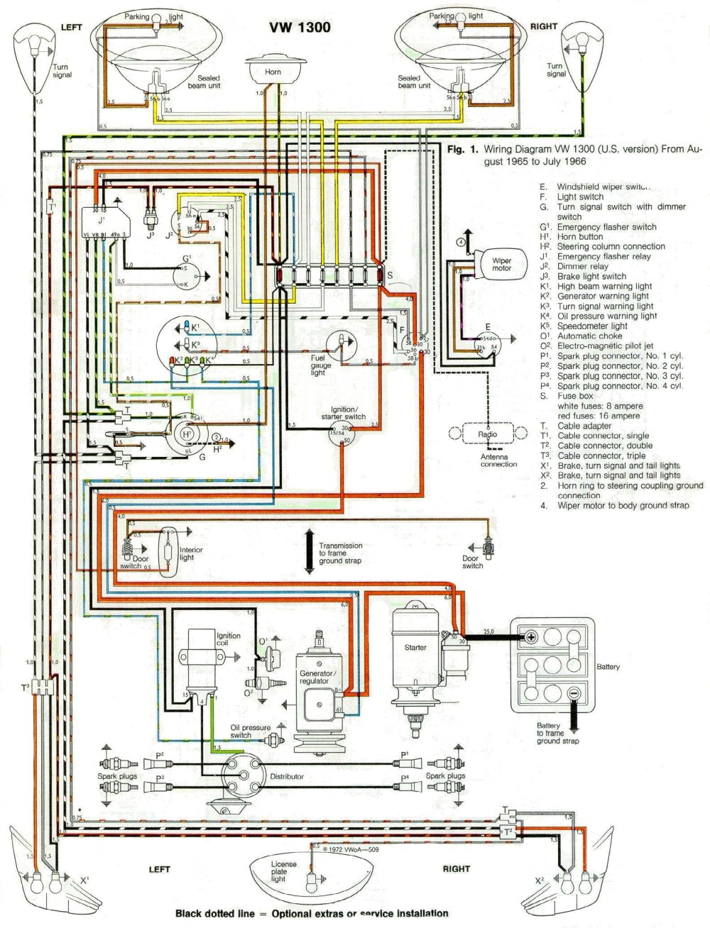 medium resolution of 1968 vw wiring schematic