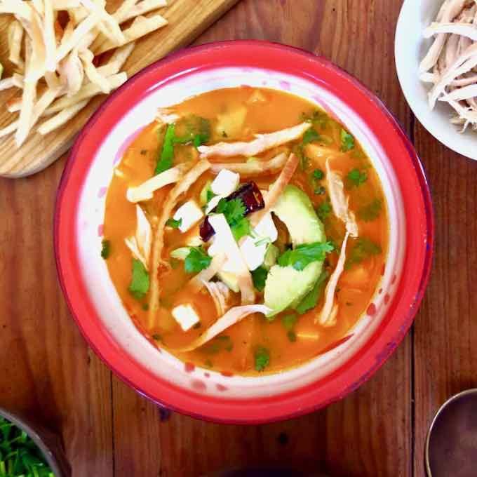 Sopa Azteca  Receta Tradicional Mexicana  196 flavors