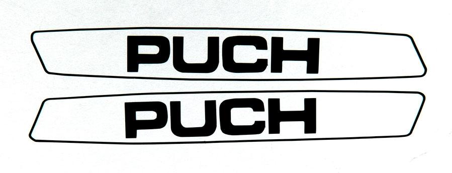 Puch Maxi Simple Black Sticker Set