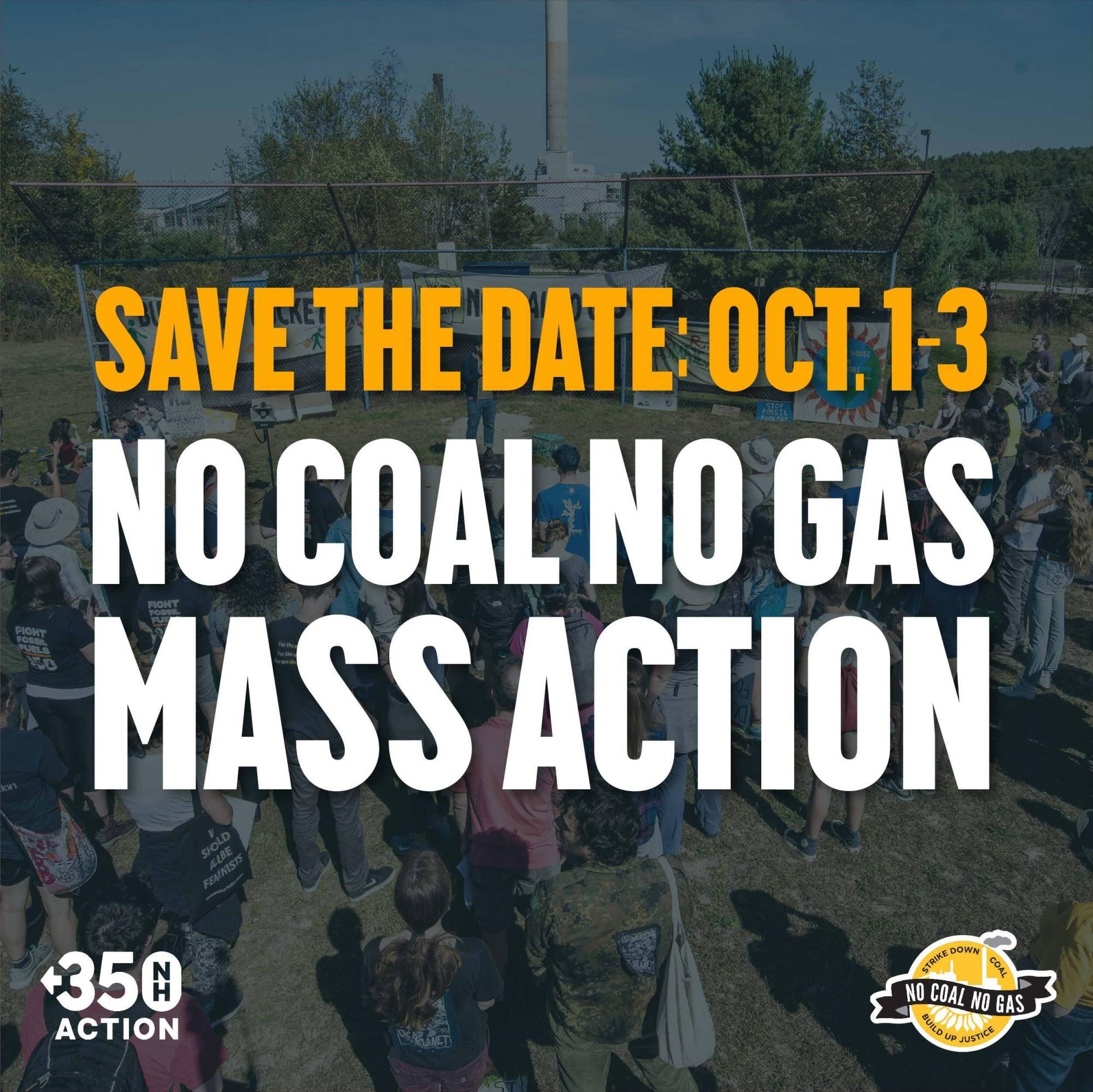 No Coal No Gas Mass actionOct 2021