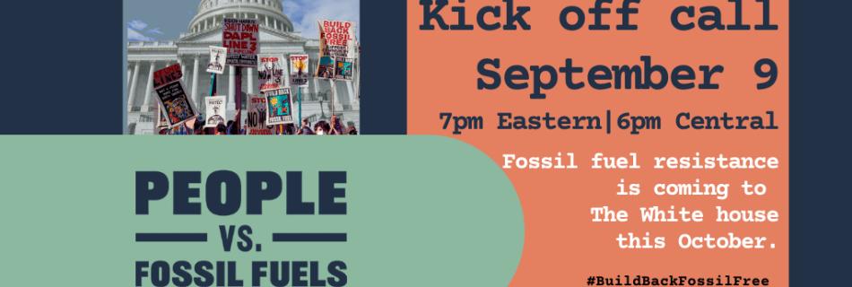 Kick off call Sept 9