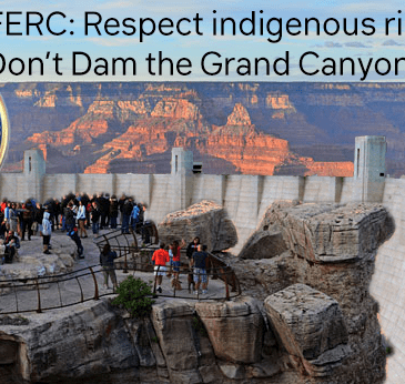 Tell FERC to reject the plan to put a Dam next to the Grand Canyon