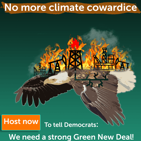 No More climate cowardice Green New Deal NOW