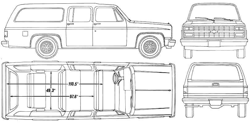1990 Chevy Suburban Facts, Specs and Statistics