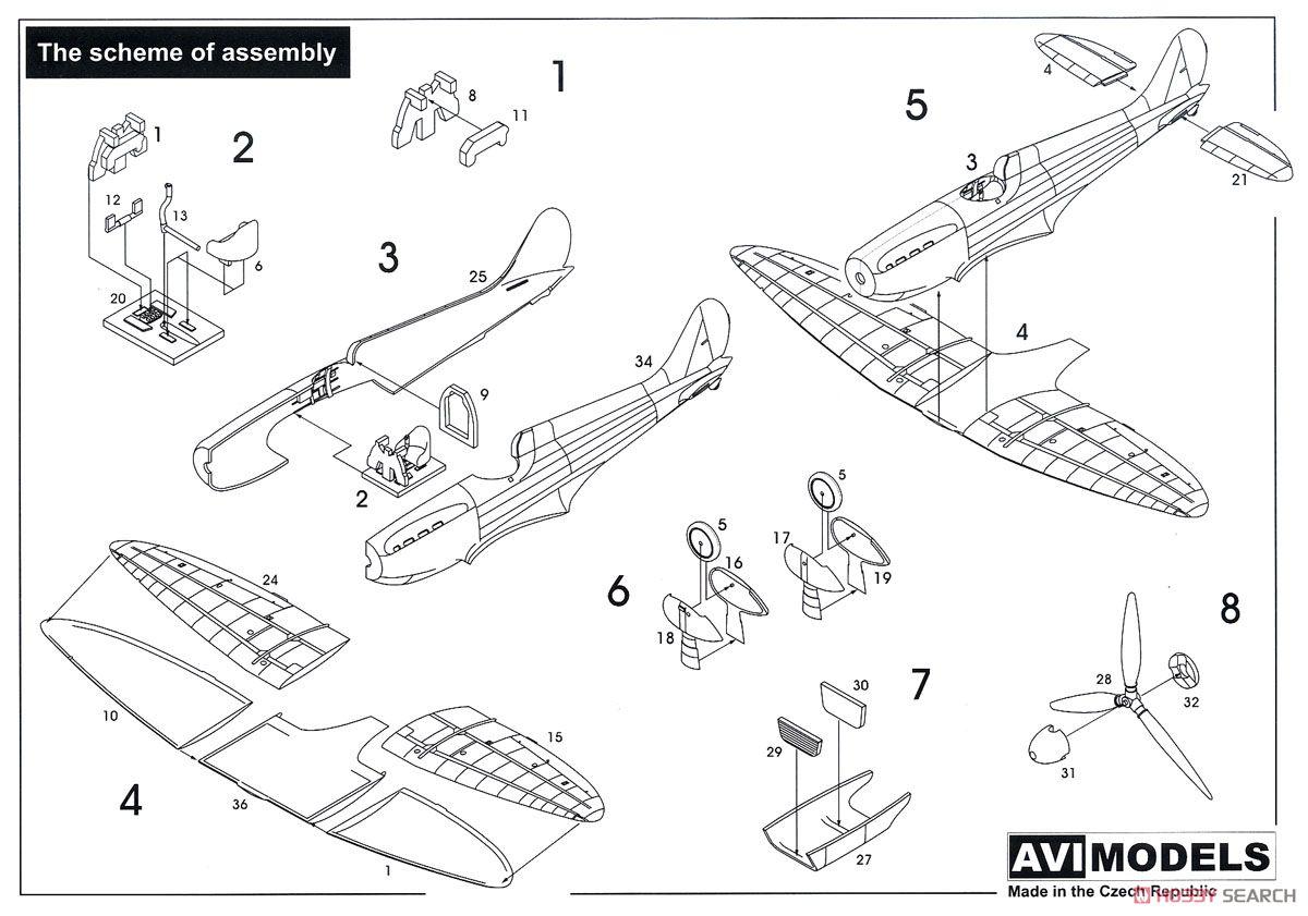 Mitsubishi A5M3a Claude (Plastic model) Images List