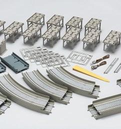 fine track rail set viaduct double track basic set rail pattern ha model [ 1200 x 700 Pixel ]