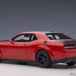 Dodge Challenger Srt Daemon Red Matte Black Diecast Car Item Picture2