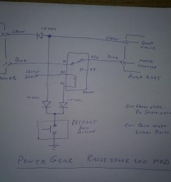 this modification took about 2 hours to do wire the relay push button and diodes as shown on the diagram  [ 1067 x 800 Pixel ]
