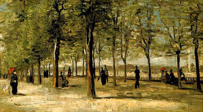 Vincent Van Gogh - Terrace At The Tuileries - spring 1886