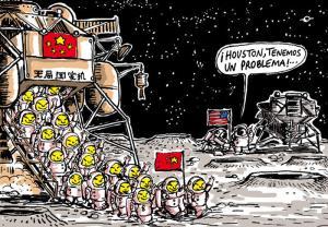 armée chinoise lune