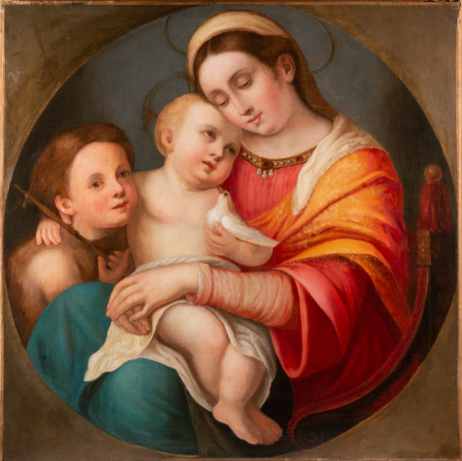 madonna of the chair wheelchair tricks a raphael in nineteenth century boston biography 6 della seggiola 1513 14 oil on wood framed galleria palatina florence photo courtesy gallerie degli uffizi