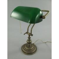 Nostalgic Bankers Lamp Brass Green Bankers Lamp Bankers