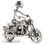 Zu Weihnachten: Schraubenmännchen Motorradfahrer ein prima Geschenk