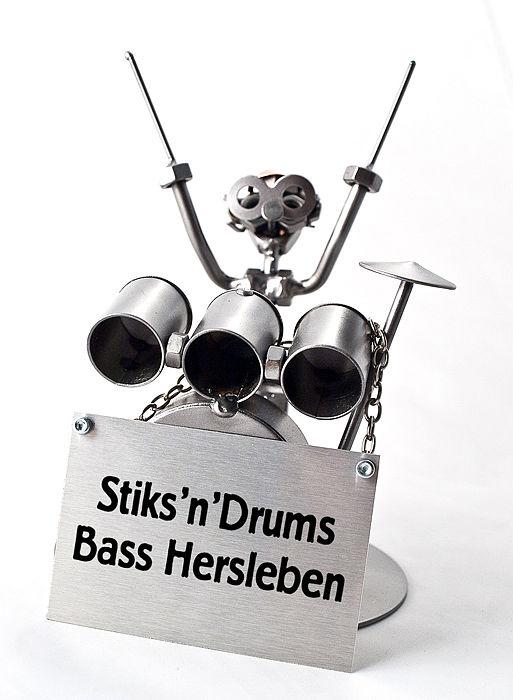 Schraubenmännchen Schlagzeuger oder Drummer