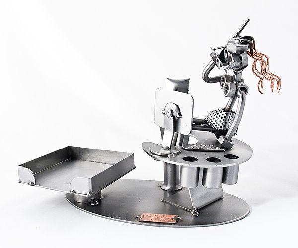 Schraubenmännchen Büro Deko Stiftehalter