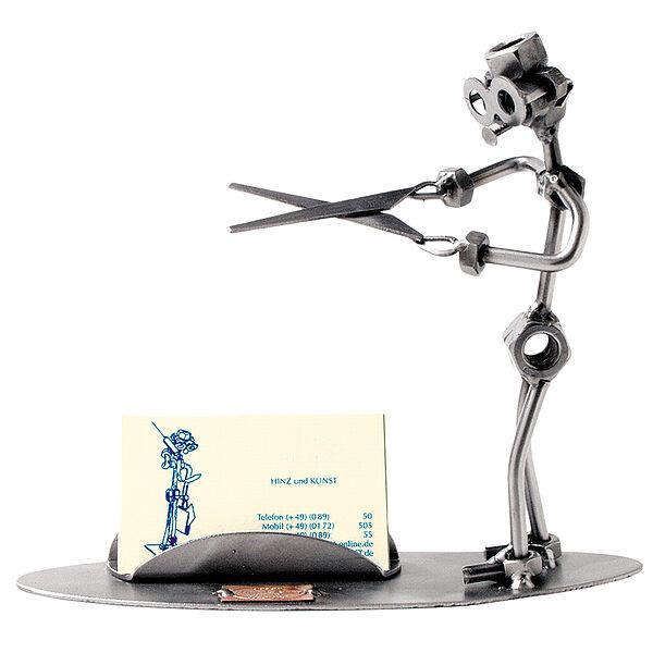 Schraubenmann - Friseur mit Visitenkartenfach