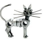 Zu Weihnachten: Schraubenfigur Katze stehend ein prima Geschenk