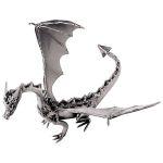 Zu Weihnachten: Fauchender und fliegender Drache als Metallfigur von Hinz und Kunst ein prima Geschenk