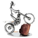Zu Weihnachten: Schraubenmännchen mit Trial-Motorrad ein prima Geschenk