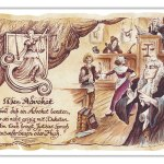 Zu Weihnachten: Zunftbild Advokat auf Antikpapier im A4-Format ein prima Geschenk