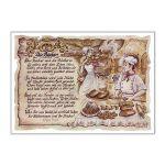 Zu Weihnachten: Zunftbild Bäcker auf Antikpapier im A4-Format ein prima Geschenk