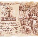 Zu Weihnachten: Zunftbild Bibliothekar auf Antikpapier im A4-Format ein prima Geschenk