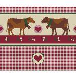 Zu Weihnachten: Fußmatte mit Kühen im Landhaus-Stil ein prima Geschenk