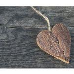 Zu Weihnachten: Fußmatte Holzherz – natürlich schön ein prima Geschenk