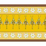 Zu Weihnachten: Fußmatte mit lustigem Bienenmotiv ein prima Geschenk