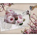 Zu Weihnachten: Fußmatte mit wunderschöner Rosen-Postkarte ein prima Geschenk