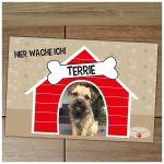 Zu Weihnachten: Fußmatte Hundehütte mit individuellem Wunschtext und Bild ein prima Geschenk