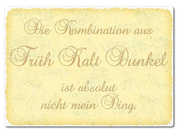 bedrucktes Retroschild mit Wunschtext A4 gelb