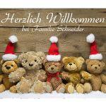 Zu Weihnachten: Weihnachtsdeko – Fußmatte mit niedlichen Teddybären ein prima Geschenk