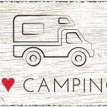 Zu Weihnachten: Blechschild Wohnmobil Größe A4 – I love Camping ein prima Geschenk