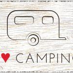 Zu Weihnachten: Blechschild Wohnwagen Größe A4 – I love Camping ein prima Geschenk