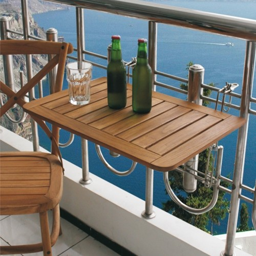 itm balkon klapptisch teakholz balkonklapptisch balkonhaengetisch,