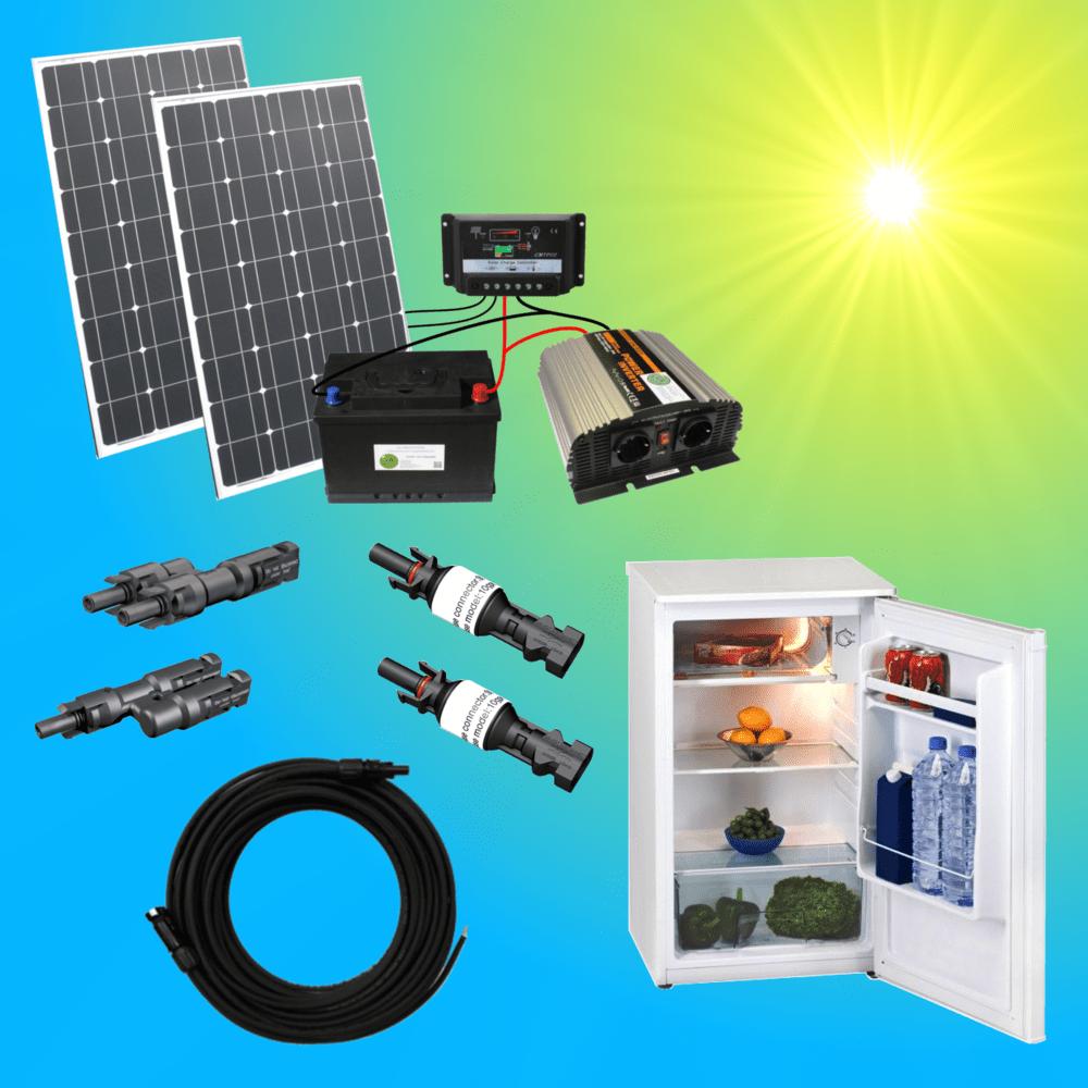 Solar200-1C Komplettes 220V Solarspeichersystem Mit Kühlschrank 200 Watt