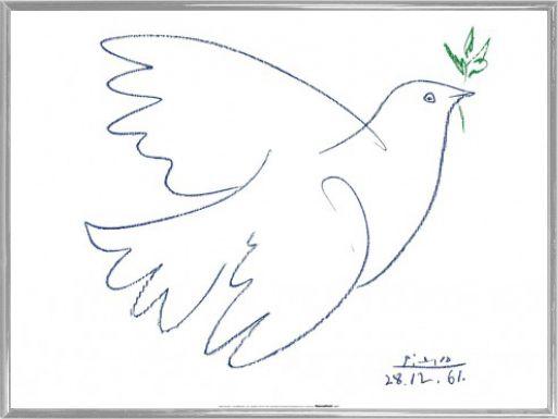 Pablo Picasso Kunstdruck & Kunststoff-Rahmen Silber