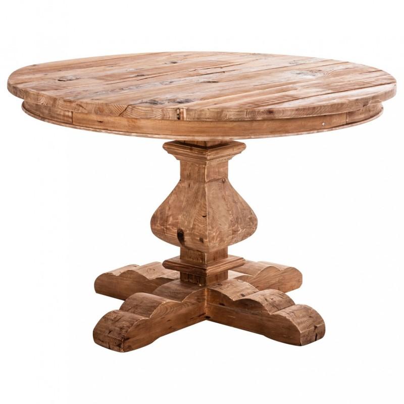 18992 Mesa redonda rstica TANZANIA 120 madera reciclada